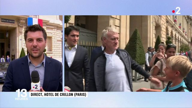 Hôtel Crillon : Didier Deschamps est sorti pour rencontrer quelques supporters