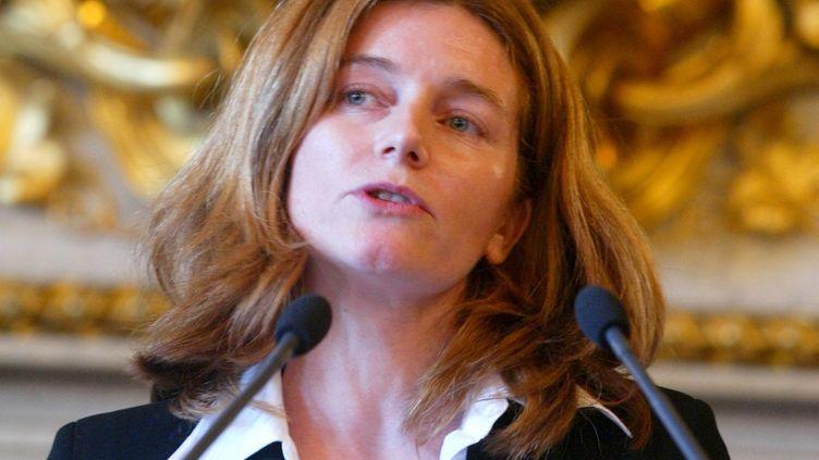 (Natalie Nougayrède, au moment de la remise du prix de la presse diplomatique en 2004 - Maxppp)