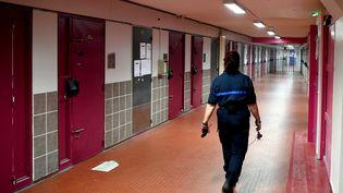 L'intérieur de la prison de Grenoble, le 4 juillet 2018. (Illustration). (JEAN-PIERRE CLATOT / AFP)