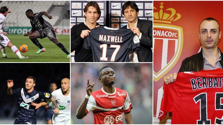 Les cinq meilleures affaires du mercato d'hiver en Ligue 1: Berbatov à Monaco, Maxwell au PSG, Ntep à Rennes, Waris à Valenciennes, Obraniak à Bordeaux