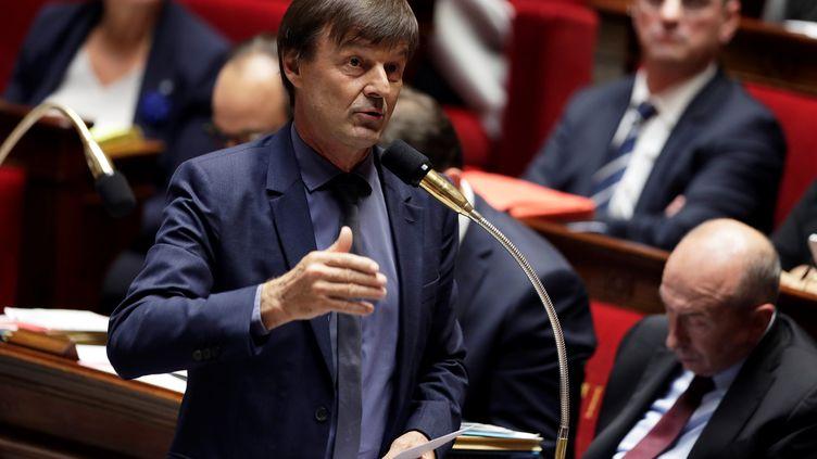 Nicolas Hulot à l'Assemblée nationale, à Paris, le 25 octobre 2017. (THOMAS SAMSON / AFP)