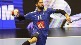Nikola Karabatic face à l'Allemagne lors du championnat du monde de handball, le 27 janvier 2019 à Herning (Danemark). (LAURENT LAIRYS / DDP)