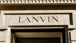 Logo de la maison Lanvin  (GERARD JULIEN / AFP)