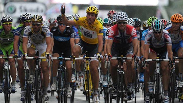 Fabian Cancellara et le peloton ont fait la grève du sprint lors de la 3e étape