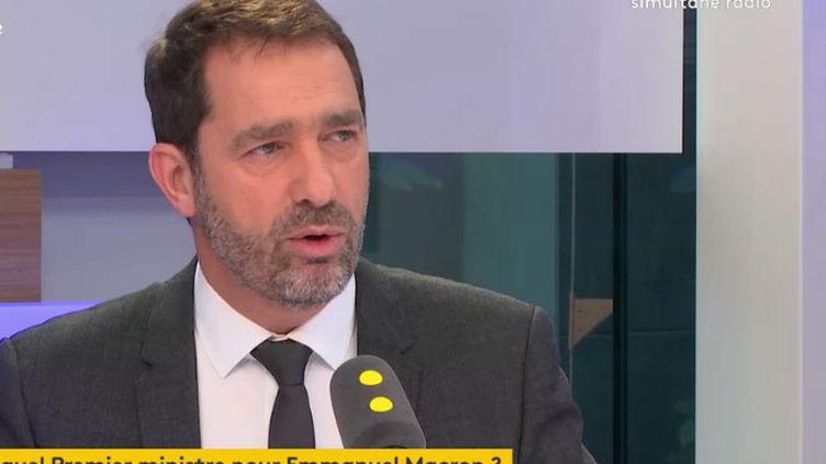 Christophe Castaner, porte-parole d'Emmanuel Macron invité mardi 9 mai 2017 sur franceinfo. (RADIO FRANCE / FRANCEINFO)
