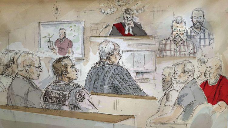 Le tueur en série Bruce McArthur, le 4 février 2019 à Toronto (Canada). (ALEXANDRA NEWBOULD / AP / SIPA)