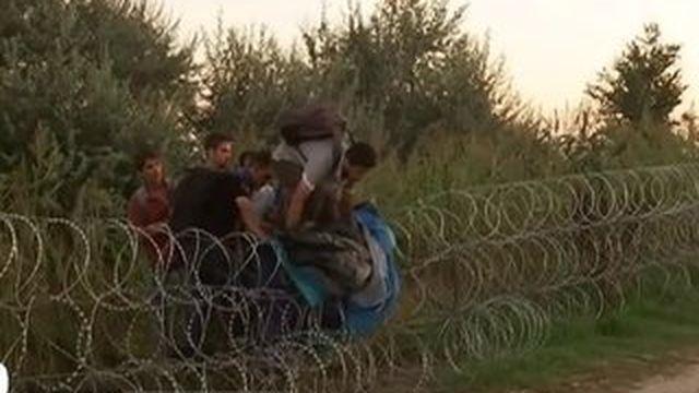 """En Hongrie, le """"mur"""" frontalier plie sous le poids des hommes"""