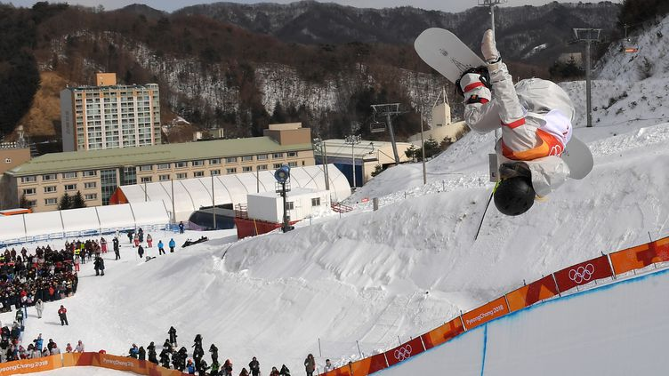 Chloé Kim, championne olympique de snowboard half-pipe (LOIC VENANCE / AFP)