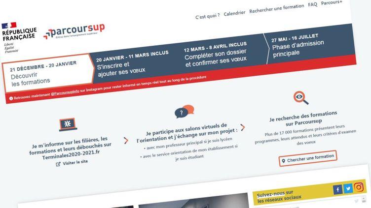 La plateforme Parcoursup,d'accès à l'enseignement supérieur, a ouvert mercredi 20 janvier 2021. (FRANCEINFO / RADIO FRANCE)