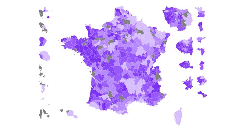 CARTE. Législatives : la France du vote En marche ! au premier tour (NICOLAS ENAULT / CARTO)