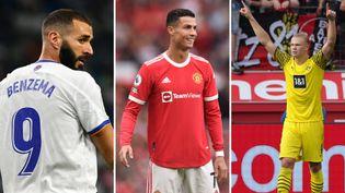 Karim Benzema, Cristiano Ronaldo et Erling Haaland ont brillé ce week-end en Europe. (AFP)