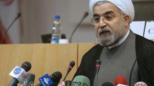 Le candidat modéré Hassan Rohani, le 24 avril 2006, à Téhéran. (ATTA KENARE / AFP)