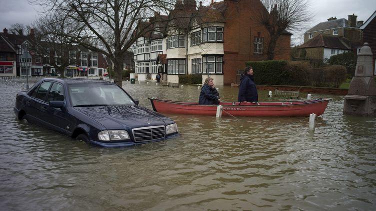 Le village deDatchet dans le Berkshire, en amont de Londres le 12 février 2014. (KIERAN DOHERTY / REUTERS )