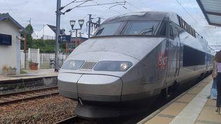 Un TGV dans une gare. (AURÉLIE LAGAIN / FRANCE-BLEU BREIZH IZEL)