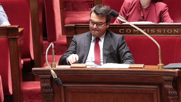 Le député socialiste Thomas Thévenoud participe à un débat sur les taxis et les VTC, le 10 juillet 2014, à l'Assemblée nationale, à Paris. (  MAXPPP)