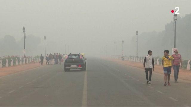 New Delhi : un immense nuage de pollution s'abat sur la ville