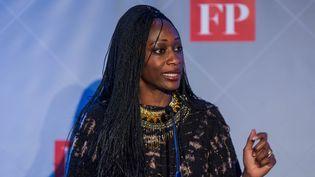 En 2016, Hafsat Abiola reçoit à Washington le prix du Citizen Diplomat of the Year. (ZACH GIBSON / AFP)