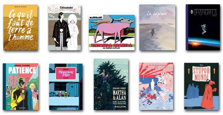 Les albums sélectionnés pour le Fauve d'Or Angoulême 2017