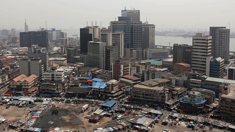 Vue générale du quartier central des affaires de Lagos, capitale économique du Nigeria, février 2019. (NYANCHO NWANRI / X06855)