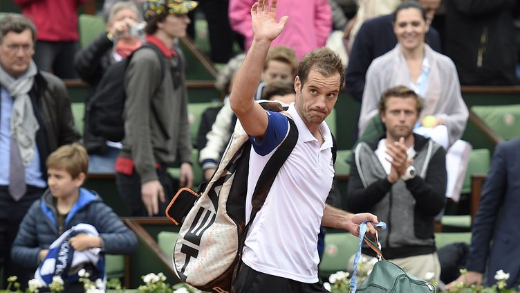Richard Gasquet, après son élimination face à Andy Murray en quart de finale de Roland-Garros. (MIGUEL MEDINA / AFP)
