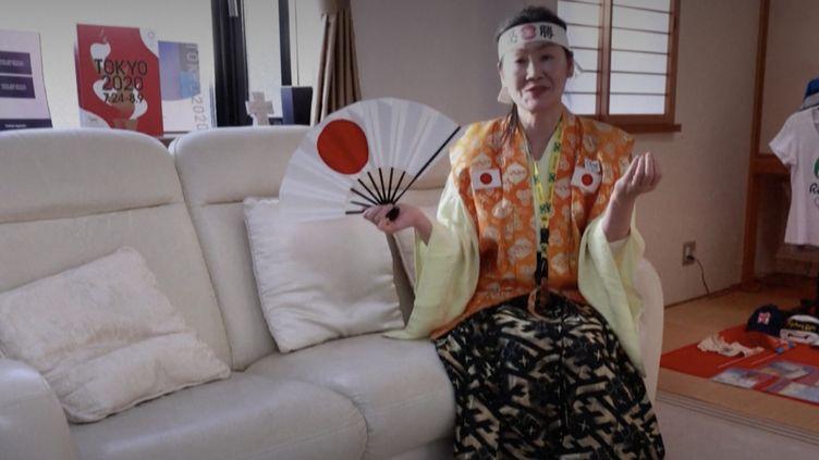 KyokoIshikawa, uneTokyoïtepassionnée par les Jeux olympiques. (Capture d'écran Franceinfo)