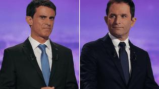 Les deux finalistes de la primaire de la gauche, Manuel Valls et Benoît Hamon, en janvier 2016. (SIPA)