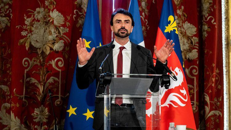 Le nouveau maire de Lyon, Grégory Doucet (JEFF PACHOUD / AFP)