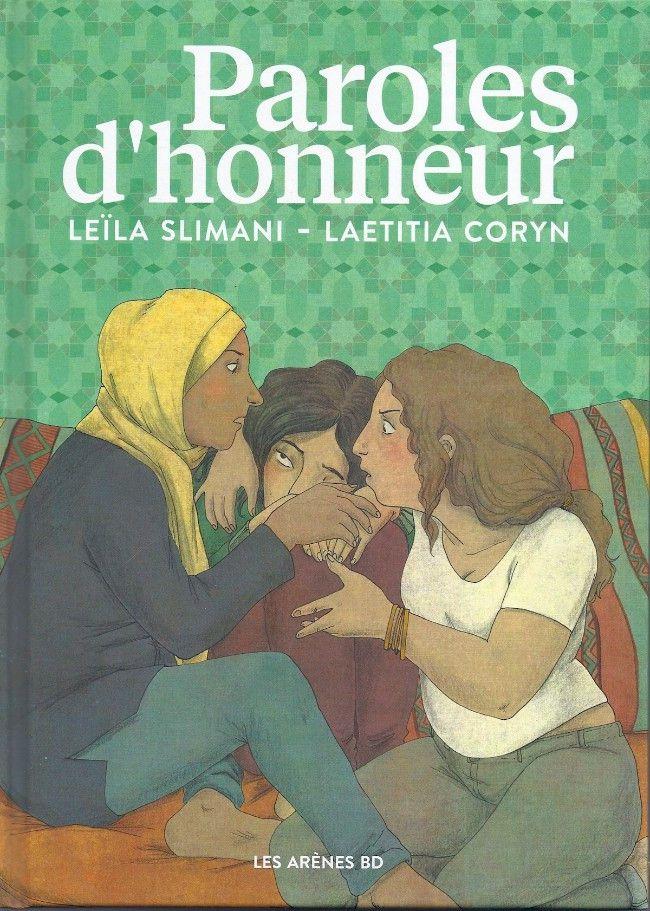 Couverture de Paroles d'honneur, de Leila Slimani et Laetitia Coryn (Les Arènes)