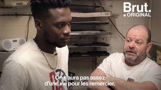 """VIDEO. Besançon : """"Depuis que je suis arrivé en France je n'ai jamais été aussi content comme ça"""", dit Laye (BRUT)"""
