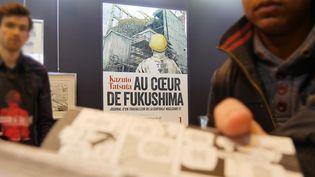 """Au coeur de Fukushima"", Kazuto Tatsuta, exposition au salon du livre, stand Kana  (Laurence Houot / Culturebox)"