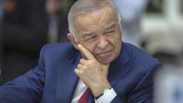 Le président ouzbek, Islam Karimov, ici photographié le 8 mai 2015 à Moscou (Russie), est mort à l'âge de 78 ans. (RIA NOVOSTI / REUTERS)