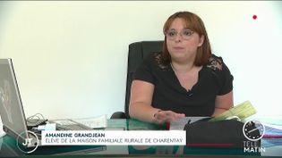 Amandine Grandjean, élève. (France 2)