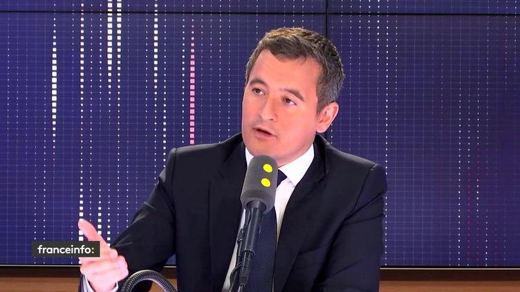 Gérald Darmanin, ministre de l'Action et des Comptes publics,sur franceinfo le jeudi 6 juin 2019. (FRANCEINFO / RADIOFRANCE)