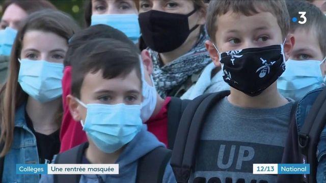 Education : la rentrée des classes sous le signe du port du masque