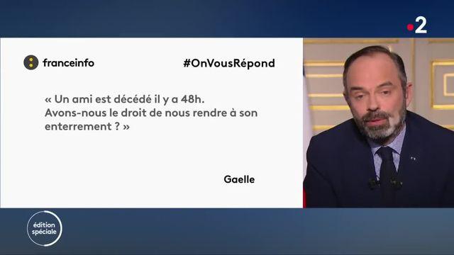Edouard Philippe répond à la question d'un internaute de franceinfo.fr