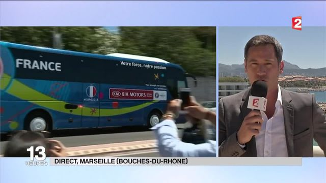 Euro 2016 : les Bleus sont arrivés à Marseille
