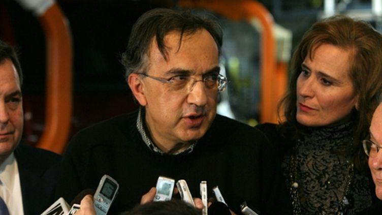 Le PDG de Fiat et Chrysler, Sergio Marchionne, en janvier dernier (AFP/Fabrizio Costantini)