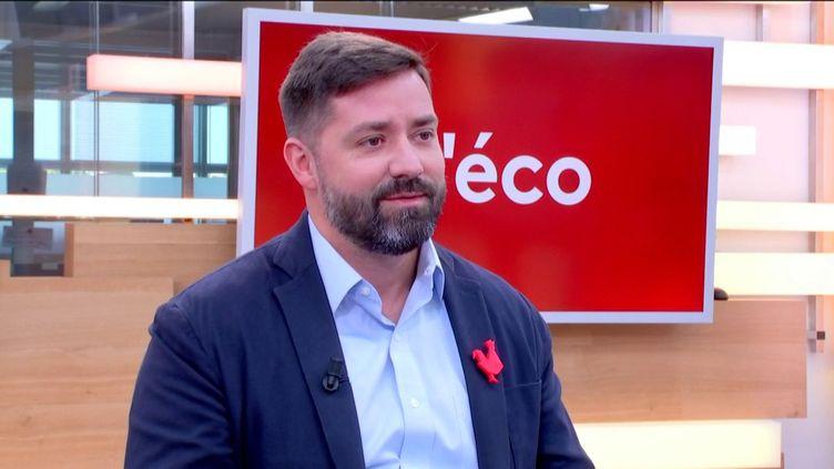 Pascal Gauthier, PDG de Ledger. (FRANCEINFO)