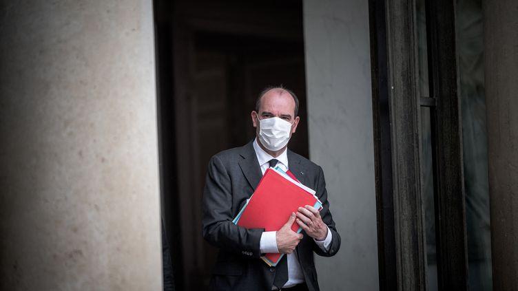 Le Premier ministre Jean Castex, le 28 avril 2021, à l'Elysée. (ARTHUR NICHOLAS ORCHARD / HANS LUCAS / AFP)