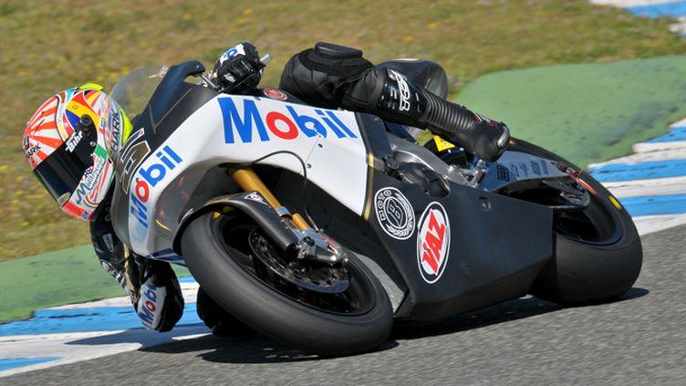 Johann Zarco sur sa nouvelle Moto2 (LUKASZ SWIDEREK                 )