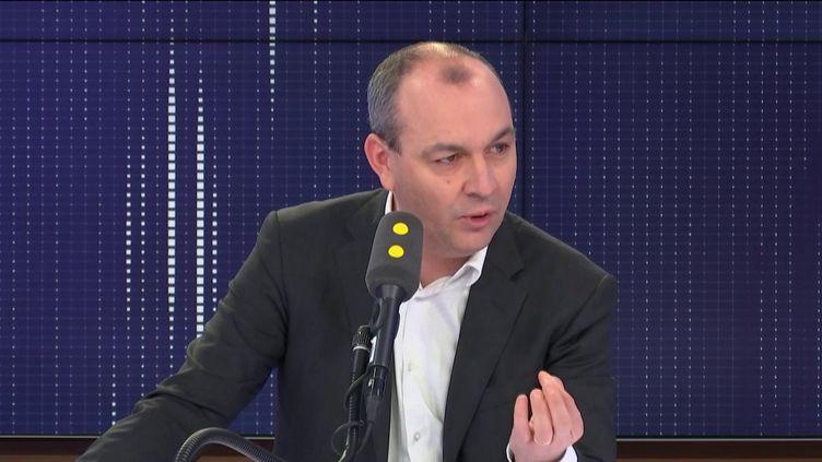 Laurent Berger, secrétaire général de la CFDT, était l'invité du 8h30 de franceinfo jeudi 16 janvier 2020. (FRANCEINFO / RADIOFRANCE)