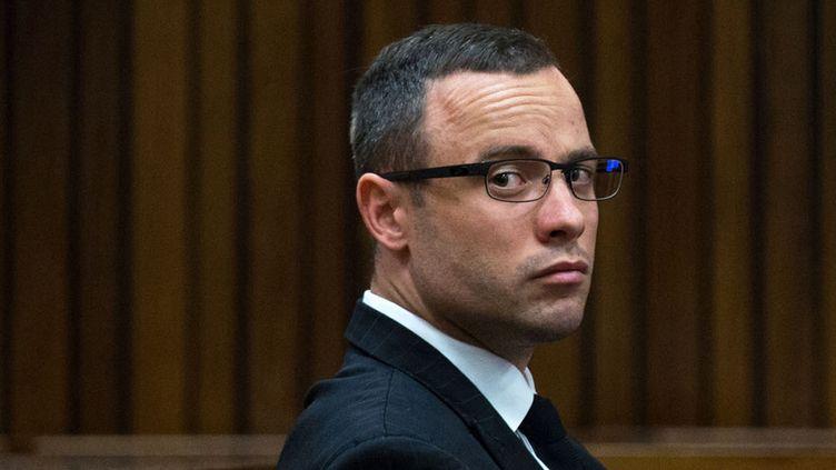 Oscar Pistorius le 13 mai 2014, à Pretoria (Afrique du Sud). (DANIEL BORN / AFP)