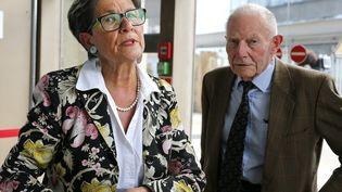 Viviane Lambert et Pierre Lambert, les parents de Vincent Lambert, à Reims (Marne), le 9 juin 2019. (FRANCOIS NASCIMBENI / AFP)