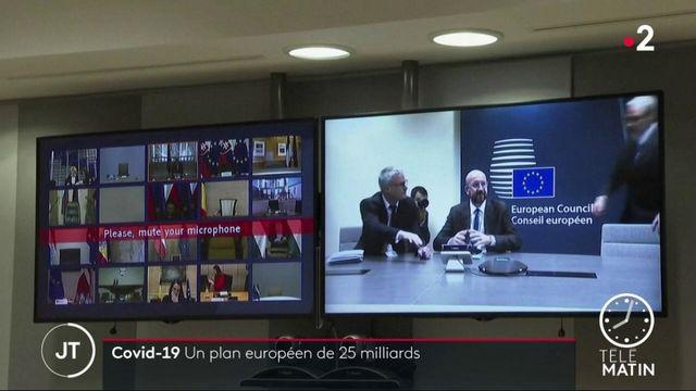 Coronavirus : par visioconférence, l'UE débloque des fonds