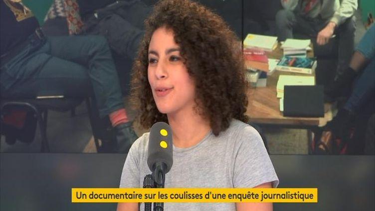 Célia Mébroukine a participé à un projet pendant neuf mois avec les journalistes Gérard Davet et Fabrice Lhomme. Avec quatre camarades du CFJ, ils ont mené une enquête sur l'islamisation en Seine-Saint-Denis. (FRANCEINFO / RADIOFRANCE)