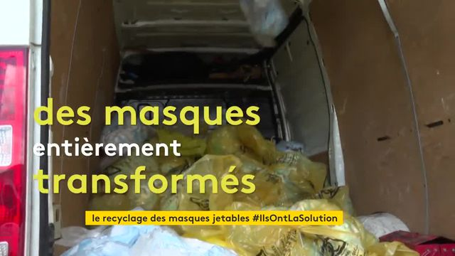 A Limoges, on recycle les masques jetables
