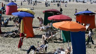 Plage de Deauville. Le 17 avril 2007. (MAXPPP)
