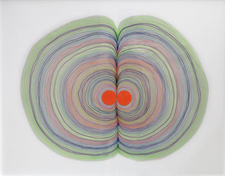 «Trust Me» par Lionel Estève.2014, Technique mixte.Dimensions: 42 x 52cm (œuvre avec son cadre).  (Elina Belou)