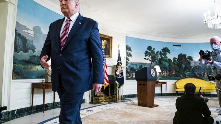 Donald Trump quittant le bureau ovale, le 9 septembre 2020 à la Maison Blanche, Washington, Etats-Unis. (POOL / GETTY IMAGES NORTH AMERICA / AFP)