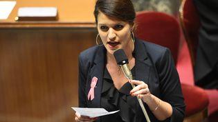 La secrétaire d'Etat chargée de l'égalité entre les femmes et les hommesMarlène Schiappa àl'Assemblée nationale, le 10 octobre 2017 (BERTRAND GUAY / AFP)